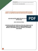 Bases proceso Adjudicacion SImplificada