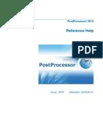 10. PostProcessor Reference Help En