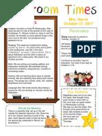 october 27 newsletter