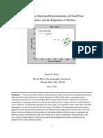 Lag Rang Ian and Eulerian Representations of Fluid Flow