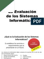 7. La Evaluacion de Los Sistemas