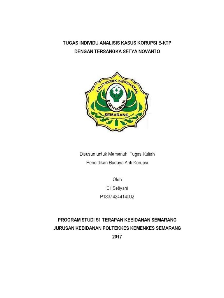 Makalah Kasus Korupsi E Ktp Pdf