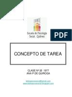 14 - Concepto de Tarea. Ana p de Quiroga