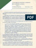 Cartas Del S.M.a. Dr. Serge Raynaud de La Ferriere Desde Su Ret