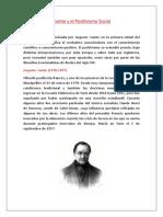 Comte y El Positivismo Social