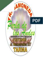 Tragamoneda Perla de Los Andes Logotipo