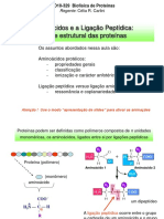 Aminoacidos e a Ligacao Peptidica - Aula on-line 1 v3