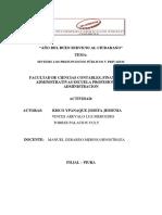 Sintesis de Los Presupuestos Públicos y Privados
