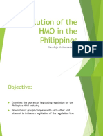 Evolution of the HMO in the Philippines