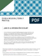 Escuela Inclusiva ( Teoria y Practica)