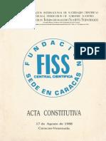 Acta Constitutiva de La FISS Central Cientifica