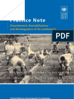 UNDP DDR Practice Note