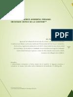 El-sistema-juridico-Ambiental-peruano - Estado Crítico de La Cuestión