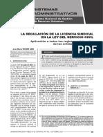 Regulación de La Licencia Sindical - Autor José María Pacori Cari