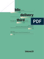 Public Sector Delivery Through the Third Sector