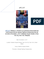 UFC 217 Live Stream