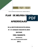Plan de Mejora de Los Aprendizajes 101