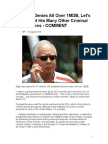 As Najib Denies All Over 1MDB, Let's Not Forget His Many Other Criminal Connections - SARAWAK REPORT