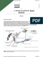 Inyeccion Bosch Motronic MED7 Sistema de Escape