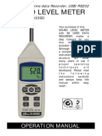 Noise Level Meter Manual