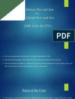 Lachhman Das and Anr v, Mt. Gulab Devi-1