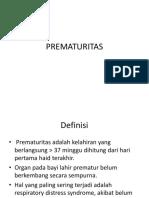 PREMATURITAS