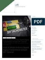 How to Make Digital Tachometer Using Arduino