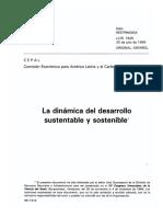 La Dinámica Del Desarrollo Sustentable y Sostenible