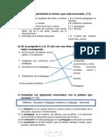 Cuestionario Semestral de Pedagogia