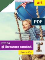 Manual Limba și literatura română clasa a V a Art