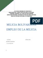 Trabajo de Empleo de Milicia Bolivariana Dinirah (Copia)