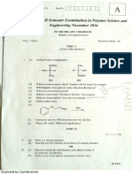 Organic Chemistry B.Tech Question Paper CUSAT