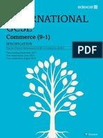 IGCSE Spec Commerce