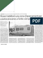 2008.06.03 - Roses habilitatarà una àrea per autocaravanes