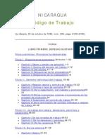 Codigo Del Trabajo NICARAGUA