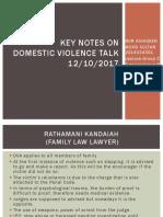 Key Notes on Domestic Violence Talk