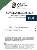 CONSTANTE ELASTICA