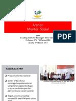 Arahan Mensos RI Coaching Bimtek Validasi 2017 1