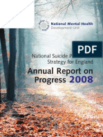 National Suicide Prevention Strategy for England Annual Report on Progress 2008