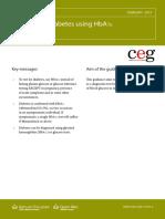Diagnosing Diabetes Using HbA1c, Clinical Guideline, February 2013