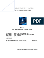 Proyecto Diseño de Bases de Datos