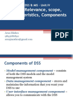 Unit IV DSS