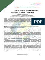 An Enhanced Strategy of Audio Denoising