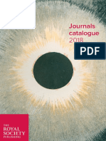 2018 Journals Catalogue
