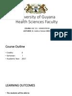 University of Guyana H1