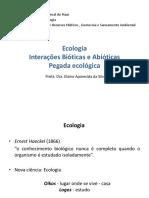 Ecologia - Interações Bióticas e Abióticas - Pegada Ecológica