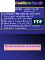 1.4 Physical Quantities and Their Units