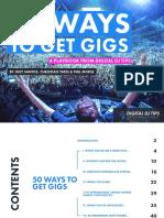 50 Ways To Get Gigs as DJ