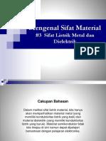 3 Sifat Listrik Metal Dan Dielektrik