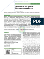 Anti-Inflammatory Activity of Two Classical Formulations of Laghupanchamula in Rats